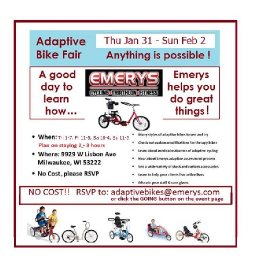 Adaptive Bike Fair at Emerys Milw. Visit the Magic Factory!